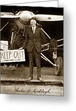 Charles A. Lindbergh And Spirit Of St. Louis 1927 Greeting Card