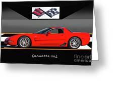 C5 Corvette Zo6 'profile' I Greeting Card