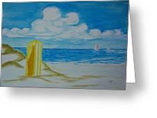 Cabana On The Beach Greeting Card