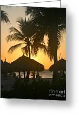 Cabana Sunset Greeting Card