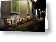 Cabildo Alley Tables Greeting Card