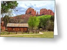 Cabin At Cathedral Rock Greeting Card