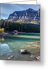 Cabin At Lake Louise Greeting Card