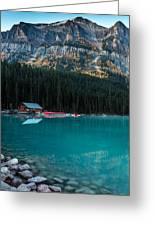 Cabin At The Lake, Greeting Card