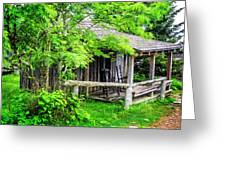 Cabin At The Top Mt Leconte Greeting Card