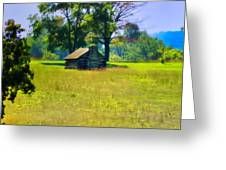 Cabin At Valley Forge Greeting Card