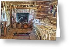 Cabin Bedroom Greeting Card