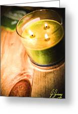 Cabin Candlelight Greeting Card