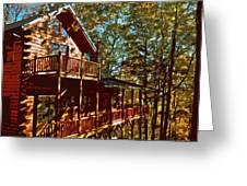 Cabin Cutout Greeting Card