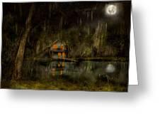 Cabin - De Land, Fl - Restless Night 1904 Greeting Card