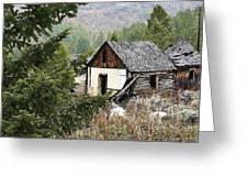 Cabin In Need Of Repair Greeting Card