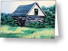 Cabin In The Clearing Greeting Card