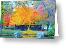 Cabin In The Park II Greeting Card