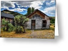Cabin In The Sagebrush Greeting Card