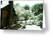 Cabin In The Snow Greeting Card