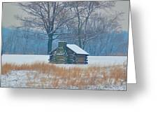 Cabin In The Snow - Valley Forge Greeting Card