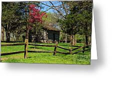 Cabin In The Spring Greeting Card
