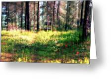 Cabin In The Woods In Menashe Forest Greeting Card