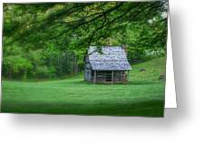 Cabin On The Blue Ridge Parkway - 1 Greeting Card