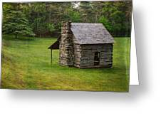 Cabin On The Blue Ridge Parkway - 4 Greeting Card