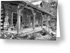 Cabin On The Hill Greeting Card