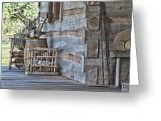Cabin Porch1 Greeting Card