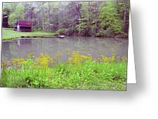 Cabin Reflection Greeting Card