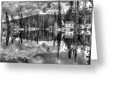 Cabin Reflection Greeting Card