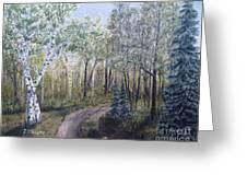 Cabin Road Greeting Card
