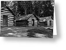 Cabins Of Valley Forge Greeting Card