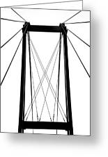 Cable Bridge Abstract Greeting Card
