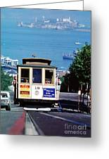Cable Car 18 Heading Up The Hyde Street Line Greeting Card