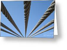 Cables To Heaven Greeting Card
