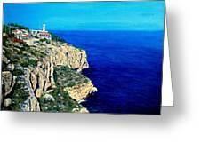 Cabo La Nao Lighthouse Javea Spain Greeting Card