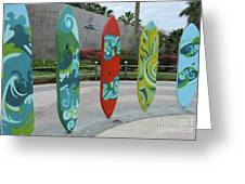 Cabo Surfboard Sculpture 1 Greeting Card