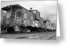 Caboose X 3 Greeting Card