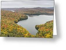 Cabot Vermont Nichols Pond Autumn Greeting Card