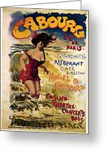 Cabourg - Paris - Grand Hotel - Vintage Restaurant Advertising Poster Greeting Card