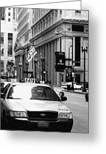 Cabs In The City Greeting Card