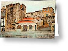 Caceres Spain Artistic Greeting Card
