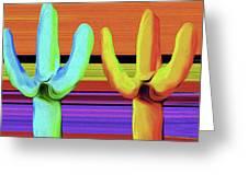 Cacti Green By Nixo Greeting Card