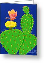 Cactus And Butterfly Greeting Card
