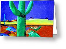 Cactus By Nixo Greeting Card