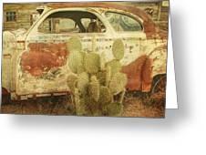 Cactus Car Greeting Card