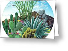Cactus Garden 2 Greeting Card