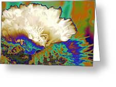 Cactus Moon Flower Greeting Card