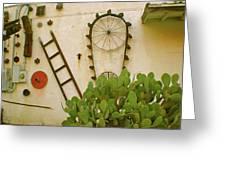 Cactus Greeting Card by Sheep McTavish