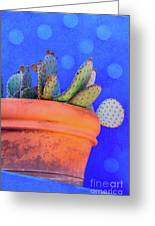 Cactus With Blue Dots Greeting Card