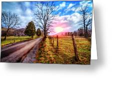 Cades Country Lane Greeting Card