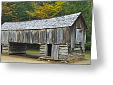 Cades Cove Barn Greeting Card